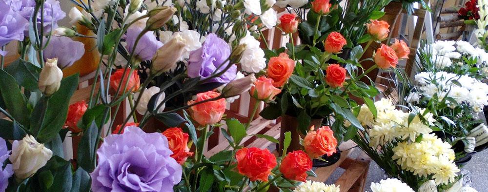 Bloemen in een winkel