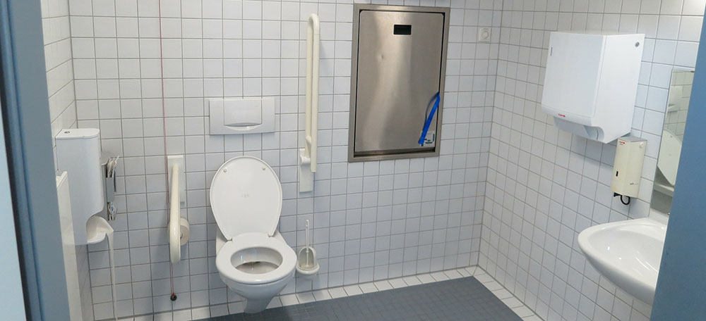 Aangepaste toiletruimte