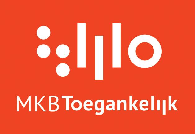 Logo met daarin MKB Toegankelijk. Wit op een rode achtergrond.