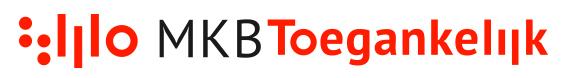 Logo met daarnaast MKB Toegankelijk. Rood en grijs op een witte achtergrond