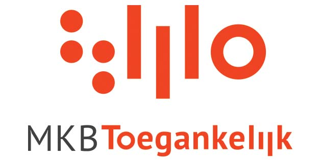 Logo met daaronder MKB Toegankelijk, in rood en grijs op een witte achtergrond