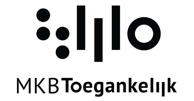 Logo met daaronder MKB Toegankelijk, zwart op een witte achtergrond