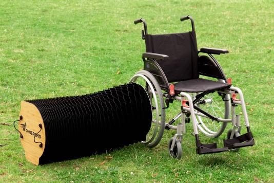 Foto uitschuifbare rolstoelbank