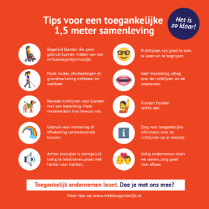 Visual voor Instagram over tips voor een anderhalvemetersamenleving