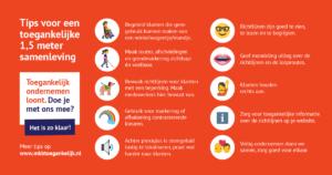 Visual voor LinkedIn over tips voor een anderhalvemetersamenleving
