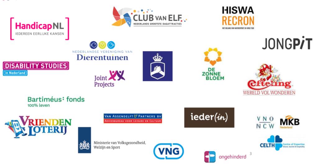 Logo's van alle deelnemende partijen aan de Community